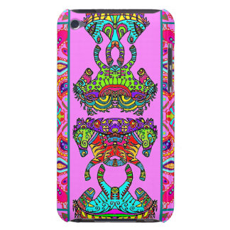 Pink Kaleidoscope Ponies Paisley Border Barely There iPod Cover