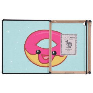 Pink Kawaii Donut, Cute Food iPad Case