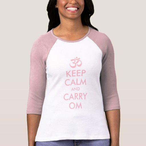 Pink Keep Calm and Carry Om Tees