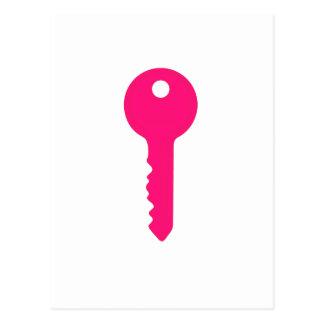 Pink Key Postcard