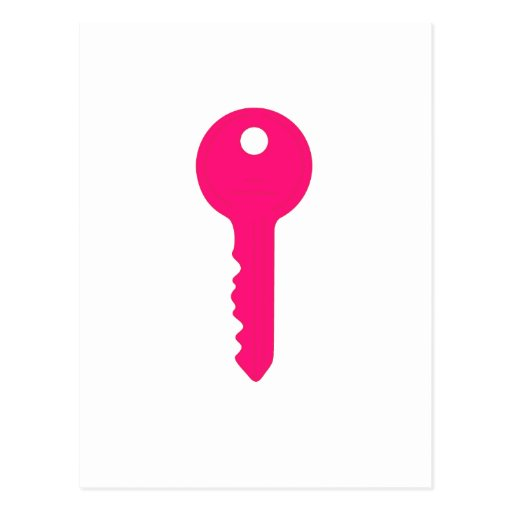 Pink Key Postcards