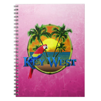 Pink Key West Sunset Notebook