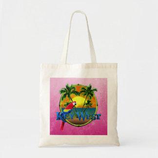 Pink Key West Sunset Budget Tote Bag