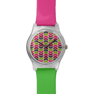 Pink/Khaki/Grey Chevrons May28th Watch