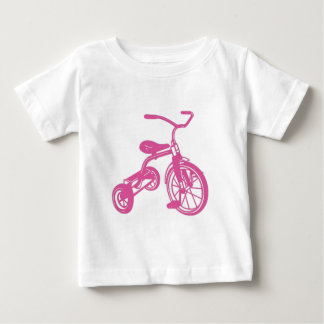 Pink Kid's Tricycle Baby T-Shirt