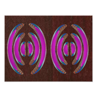PINK  KISSES Bangle CostumE OVAL Disc  Decorations Poster