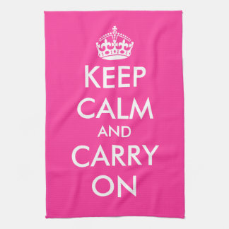 Pink kitchen towel | Keep calm and carry on