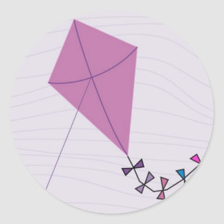 Pink Kite Classic Round Sticker