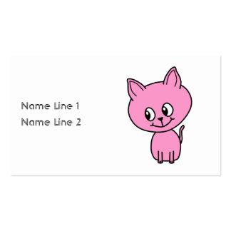 Pink Kitten Business Card Template