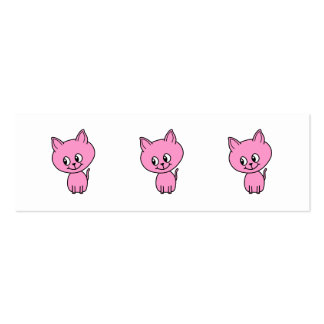 Pink Kitten. Pack Of Skinny Business Cards