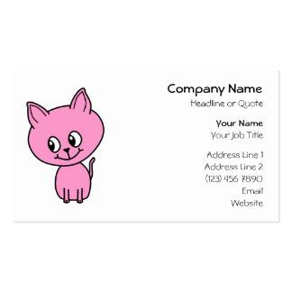 Pink Kitten. Pack Of Standard Business Cards