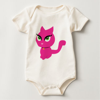 Pink Kitty Cat Baby Clothes Baby Bodysuit
