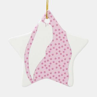 Pink Kitty Christmas Tree Ornament