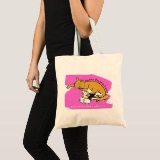 Pink Kitty Logo Tote Bag