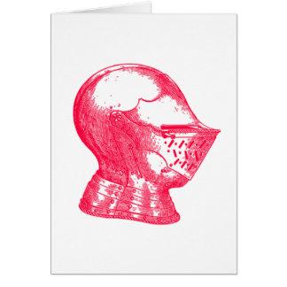 Pink Knight Medieval Armor Helmet Knights Card