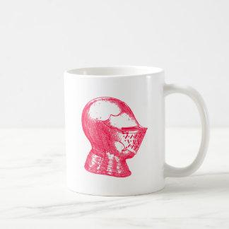 Pink Knight Medieval Armor Helmet Knights Basic White Mug