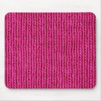 Pink knitted wool mouse mat