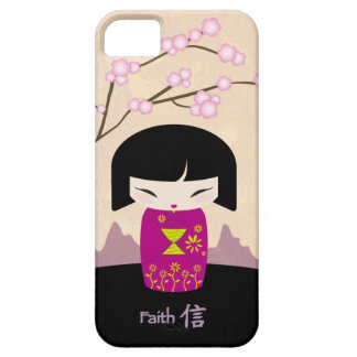 Pink kokeshi - faith case for the iPhone 5