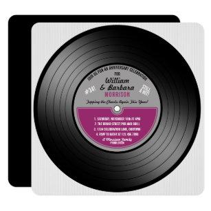Vinyl Record Invitations Amp Announcements Zazzle Uk