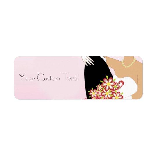 Pink Label - Wedding Return Address Label