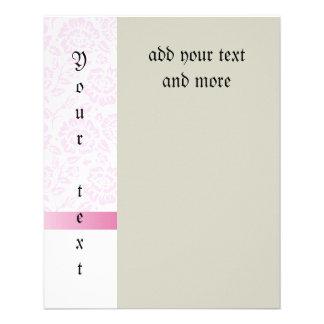 """Pink lace,diamond,Pink silk ribbon,white,chic,fun, 4.5"""" X 5.6"""" Flyer"""