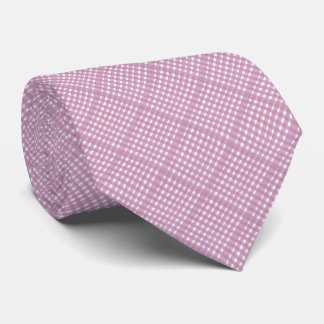 Pink Lace Gingham Tie