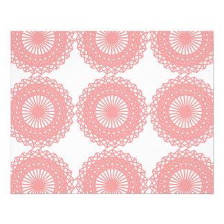Pink Lace Pattern Design. 11.5 Cm X 14 Cm Flyer