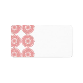 Pink Lace Pattern Design. Label