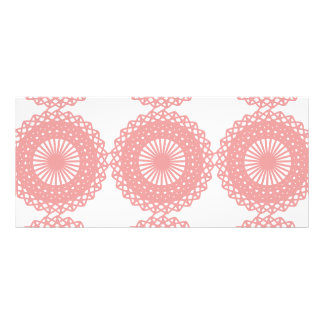 Pink Lace Pattern Design Personalized Rack Card