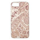 Pink Lace Roses iPhone 8/7 Case