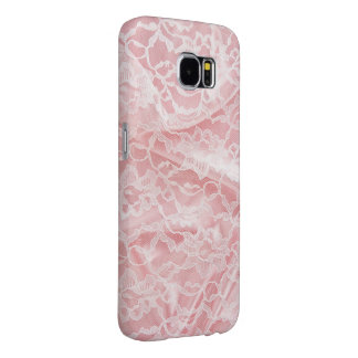 Pink Lace Satin Samsung Galaxy S6 Cases