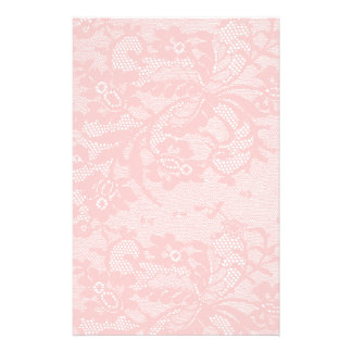 Pink Lace Personalized Stationery