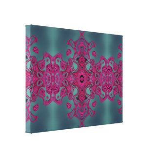 Pink lace stretched canvas prints