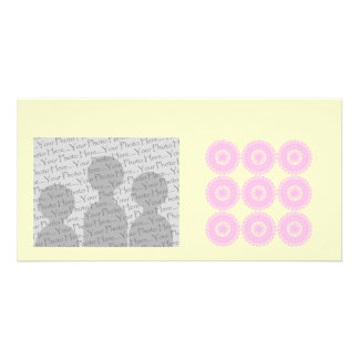 Pink Lace Style Design Personalized Photo Card