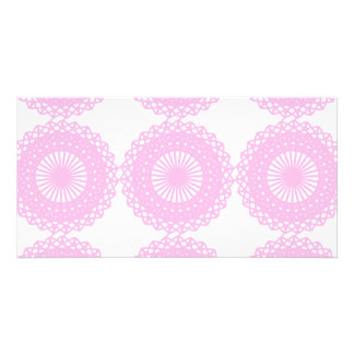 Pink Lace Style Design. Picture Card