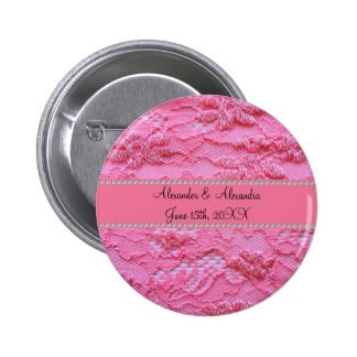 Pink lace wedding favors pin