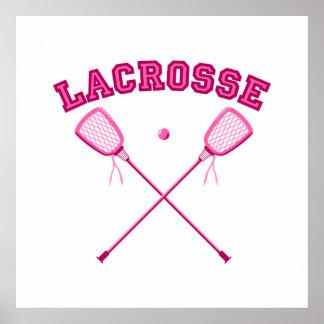 Pink Lacrosse Logo Poster