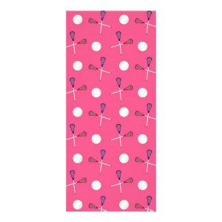 Pink lacrosse pattern rack card design