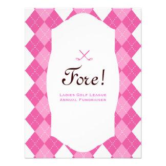 Pink Ladies Golf Party Argyle Invitation