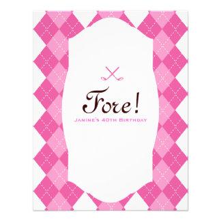 Pink Ladies Golf Party Argyle Announcement