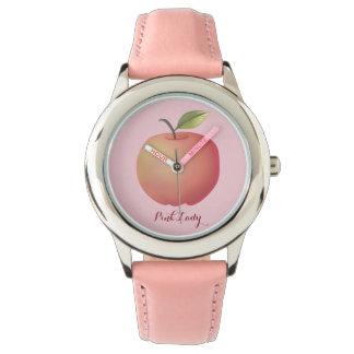 Pink Lady Apple Cute Simple Girly Sweet Fruit Watch