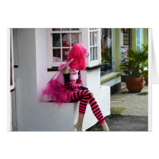 Pink Lady in waiting Card