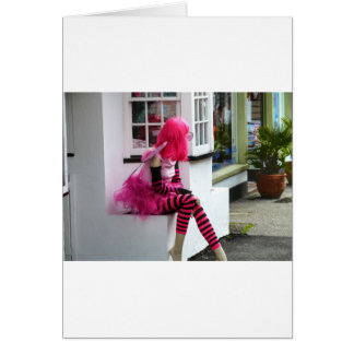 Pink Lady in waiting Greeting Card