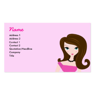Pink Lady Profile Card Business Card