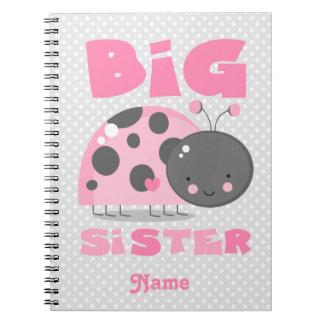 Pink Ladybug Big Sister Spiral Notebook