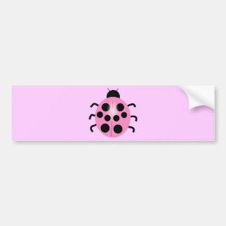 pink ladybug bumper stickers