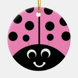pink ladybug christmas ornament