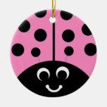 pink ladybug christmas ornaments