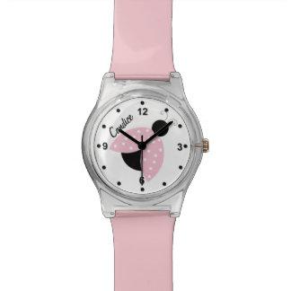 Pink Ladybug Custom Watch