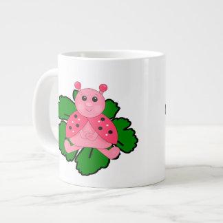 Pink Ladybug Giant Coffee Mug
